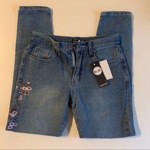 Flower Boohoo jeans